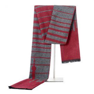 180CM Mens Striped Printing Tassel Long Scarves-Newchic-