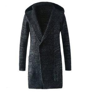Mens Cardigan Sweater Turn-down Collar Outwear-Newchic-