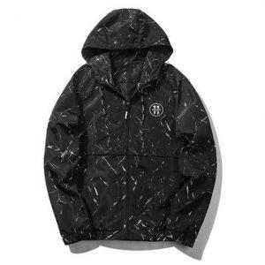 Mens Casual Hooded Sweatshirt Outdoor Windbreaker-Newchic-