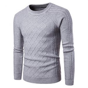 Mens Jacquard Knitted Sweaters-Newchic-
