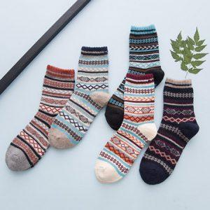 Mens Rabbit Wool Blends Socks-Newchic-