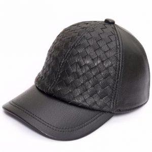 Mens Sheepskin Leather Baseball Cap Adjustable-Newchic-