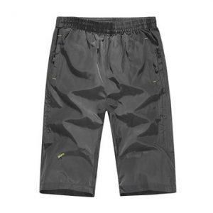 Mens Summer Outdoor Sports Quick-drying Elastic Waist Drawstring Thin Loose Shorts-Newchic-