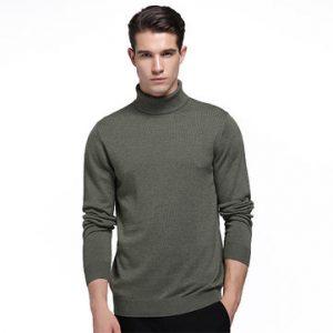 Mens Woolen High-neck Sweater-Newchic-