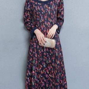 Vintage Floral Printed Dresses-Newchic-