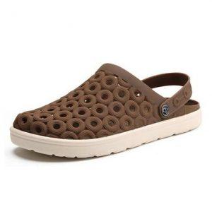 Men Hole Breathable Soft Light Beach Sandals Waterproof Garden Shoes-Newchic-