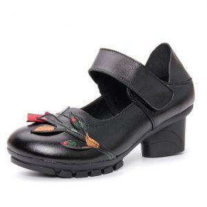 Black Print Block Shoes-Newchic-Black