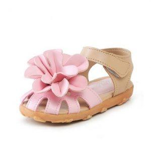 Summer Toddler Girls Sandals Princess Flowers Soft Flat Shoes-Newchic-