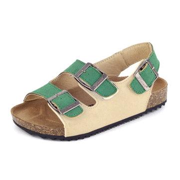 Unisex Kids Casual Flip Flops Softwood Beach Sandals-Newchic-