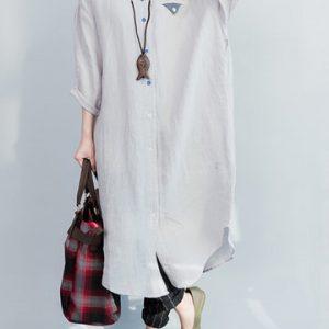 Casual Women Long Sleeve Loose Print Dresses-Newchic-