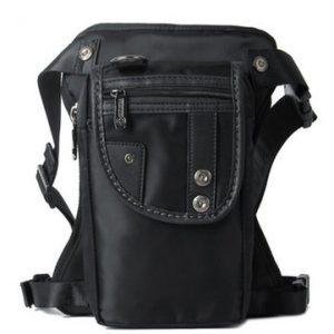 Mens Laptop Backpack Nylon Sling Backpack Black Solid Travel Bag-Newchic-