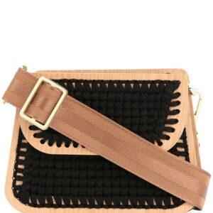 0711 Monaco small woven clutch - Black-