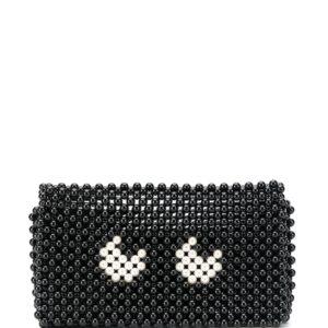 Anya Hindmarch eyes clutch bag - Black-