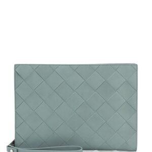 Bottega Veneta woven clutch bag - Grey-