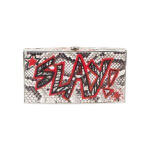 Elisabeth Weinstock graffiti box clutch - Black-