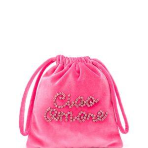 Giada Benincasa crystal-embellished clutch bag - PINK-