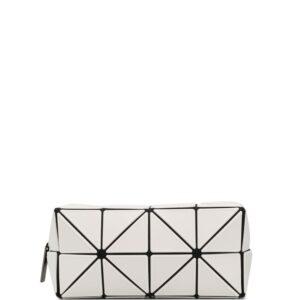 Issey Miyake prism clutch bag - White-