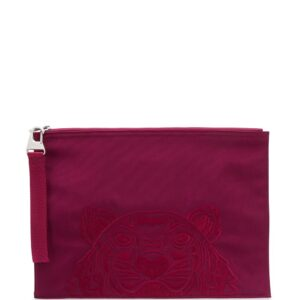 Kenzo tiger-embroidered clutch-