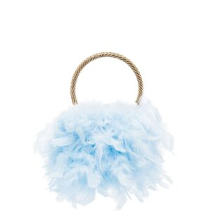 Rosantica twiggy feather clutch - Blue-