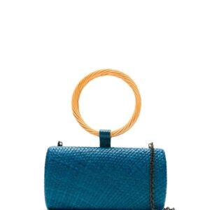 SERPUI straw clutch - Blue-