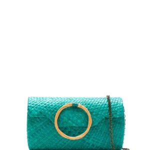 SERPUI straw clutch - Green-