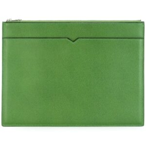 Valextra layered clutch bag - Green-