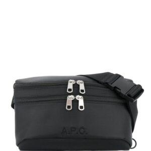 A.P.C. double zipped belt bag - Black