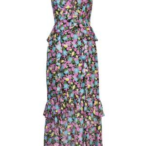 Amur Evita floral-print dress - PURPLE