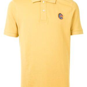 Cerruti 1881 short sleeve embroidered logo polo shirt - Yellow