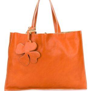 Danielapi floral shopper tote - ORANGE