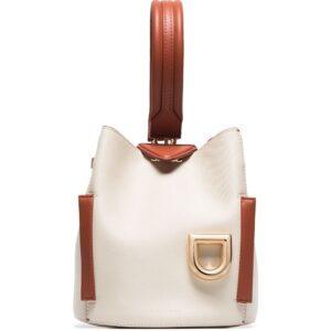 Danse Lente white Josh leather shoulder bag
