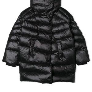 Diesel Kids high-collar padded coat - Black