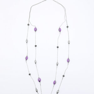 Evan Enamel Illusion Necklace Purple