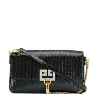 Givenchy snakeskin effect charm bag - Black