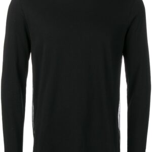 Helmut Lang overlay logo long sleeve top - Black