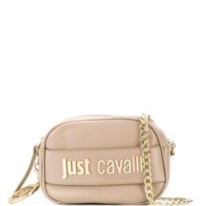 Just Cavalli logo plaque crossbody bag - NEUTRALS