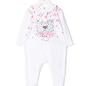 Kenzo Kids logo printed pajamas - 01 WHITE