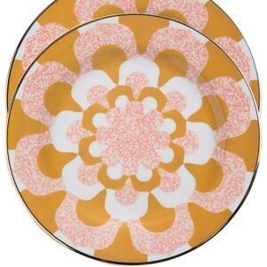 La Doublej Mosaico dessert plates (set of 2) - ORANGE