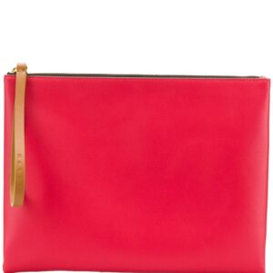 Marni block colour leather pouch - Red