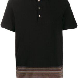 Missoni striped hem polo shirt - Black