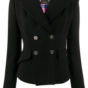 Philipp Plein fitted double breasted blazer - Black
