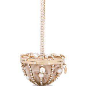 Rosantica Afrodite pearl-embellished half-sphere bag - GOLD