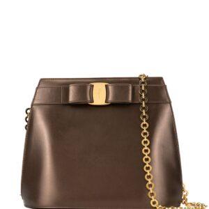 Salvatore Ferragamo Pre-Owned Vara Bow shoulder bag - Brown