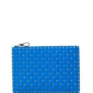 Valentino Garavani Rockstud Spike clutch bag - Blue