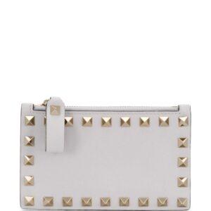 Valentino Garavani Rockstud zip wallet - White
