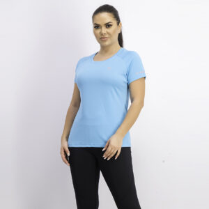 Womens Active Crew Tee With Mesh Blue Atoll/Black