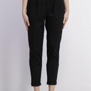 Womens Belted Paperbag Pant Black