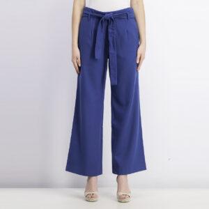 Womens Belted Trouser Pants Deep Blue Sea