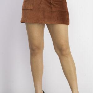 Womens Corduroy Mini Skirt Autumn Rust