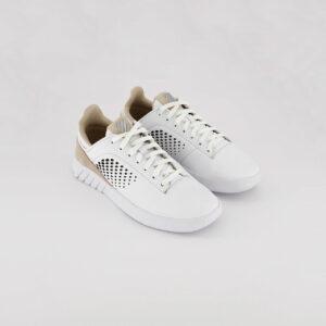 Womens Cutwork Detail Sneakers White/Pale Peach